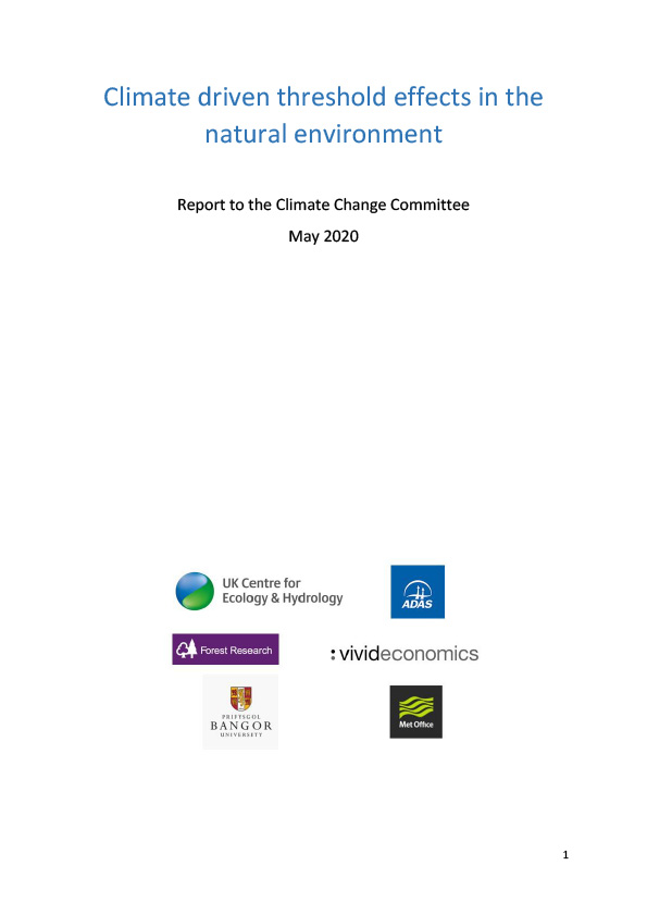 Front cover of Climate-driven threshold effects in the natural environment