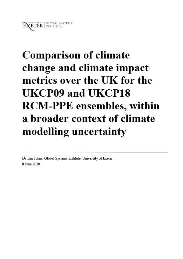 Comparison of UKCP09 and UKCP18 RCM-PPE ensembles